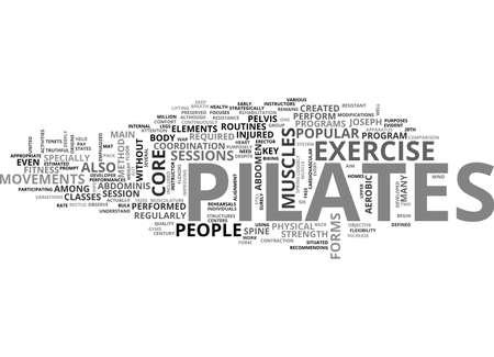 WELKE PILATES IS TEKST WORD CLOUD CONCEPT