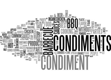WHAT S A BARBECUE PARTY WITHOUT SOME CONDIMENTS TEXT WORD CLOUD CONCEPT