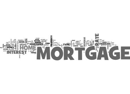 WHAT S A MORTGAGE TEXT WORD CLOUD CONCEPT