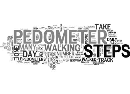 WHAT S A PEDOMETER AND WHY WOULD I NEED ONE TEXT WORD CLOUD CONCEPT