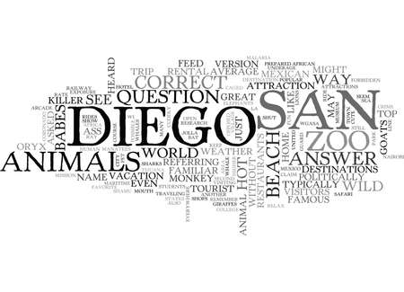 WHAT S HOT IN SAN DIEGO TEXT WORD CLOUD CONCEPT