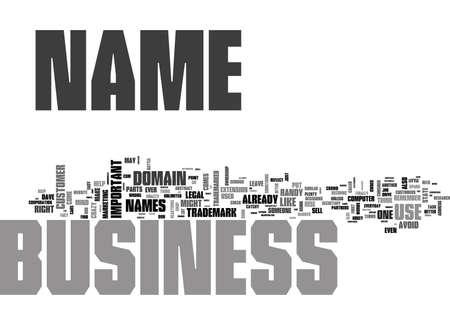 WHAT S IN A NAME WHEN IT COMES TO YOUR BUSINESS PLENTY TEXT WORD CLOUD CONCEPT Illusztráció