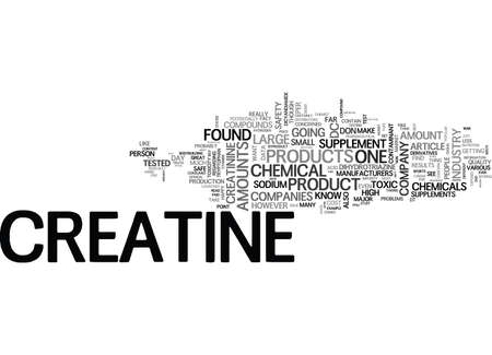 WHAT S IN YOUR CREATINE TEXT WORD CLOUD CONCEPT