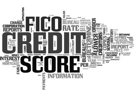 WHAT S IN YOUR FICO SCORE TEXT WORD CLOUD CONCEPT