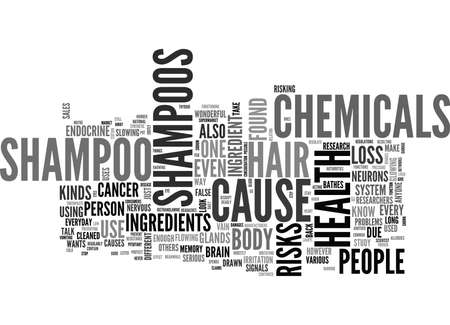 WHAT S IN YOUR SHAMPOO TEXT WORD CLOUD CONCEPT