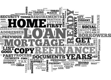 WHAT S IN YOUR TO DO CHECKLIST FOR YOUR REFINANCE HOME MORTGAGE LOAN TEXT WORD CLOUD CONCEPT