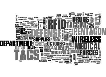 WHAT S NEW WITH RFID TAGS ON DRUGS TEXT WORD CLOUD CONCEPT