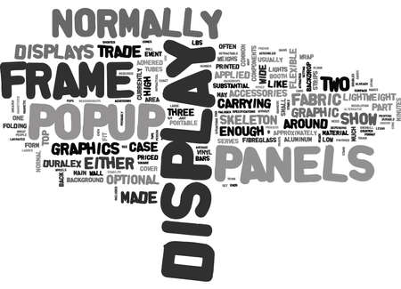 weighs: WHAT S SO GREAT ABOUT POPUP DISPLAYS TEXT WORD CLOUD CONCEPT