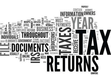 WHAT S SO SPECIAL ABOUT TAX RETURNS TEXT WORD CLOUD CONCEPT Imagens - 79576972