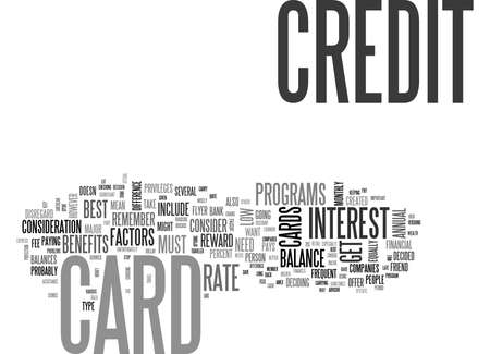 WHAT S THE BEST CREDIT CARD FOR ME TEXT WORD CLOUD CONCEPT Stock fotó - 79617508