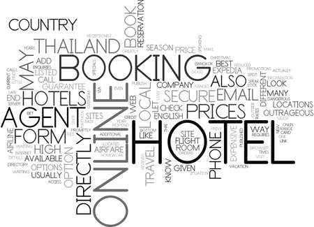 WHAT S THE BEST WAY TO BOOK YOUR HOTEL IN THAILAND TEXT WORD CLOUD CONCEPT