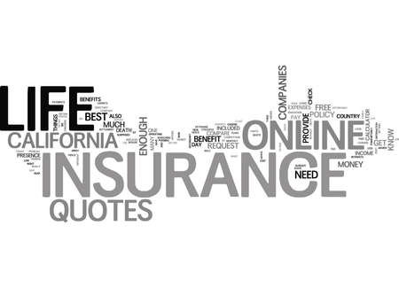 WHAT S THE BIG DEAL ABOUT ONLINE LIFE INSURANCE QUOTES TEXT WORD CLOUD CONCEPT Ilustração