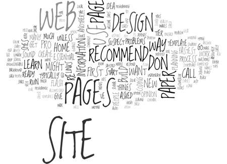 axiom: WHAT S THE FASTEST WAY TO RUIN A NEW WEB SITE TEXT WORD CLOUD CONCEPT Illustration