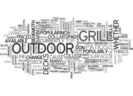 WHAT S UNDER YOUR GRILL TEXT WORD CLOUD CONCEPT