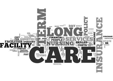 高齢者が民間の長期介護保険本文単語雲概念について知る必要があります。 写真素材 - 79617734