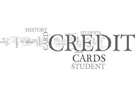 학생 신용 카드를 다른 신용 카드 정보 텍스트 단어 구름 개념에서 벗어난 것으로 설정합니다. 일러스트