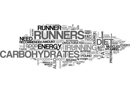 energized: WHAT SHOULD BE IN A RUNNERS DIET TEXT WORD CLOUD CONCEPT