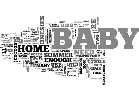WHAT SHOULD I BUY FOR BABY AN EXPERIENCED MOM S ADVICE TEXT WORD CLOUD CONCEPT Ilustração