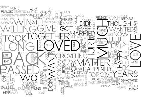 愛を取り戻すにはどうすればそれ右のテキスト単語雲概念