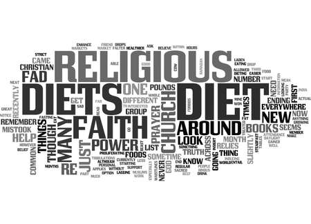 WHAT SHOULD YOU KNOW ABOUT RELIGIOUS DIETS TEXT WORD CLOUD CONCEPT