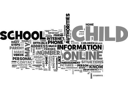 WHAT TO DO IF YOUR CHILD RUNS INTO TROUBLE ONLINE TEXT WORD CLOUD CONCEPT