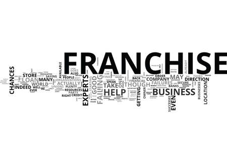 failures: WHAT TO DO IF YOUR FRANCHISE FAILS TEXT WORD CLOUD CONCEPT