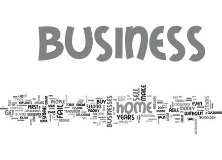 WHAT TO DO IF YOUR HOME BUSINESS FAILS TEXT WORD CLOUD CONCEPT