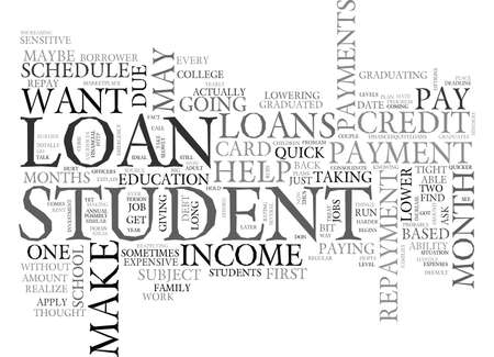 WHAT TO DO WHEN A STUDENT LOAN IS SUBJECT TO PAYMENT TEXT WORD CLOUD CONCEPT