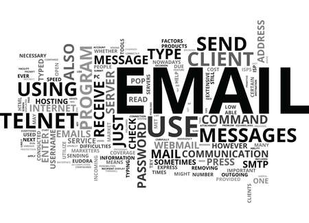 WHAT TO DO WHEN YOU CAN NOT USE YOUR EMAIL CLIENT TO SEND OR RECEIVE MESSAGES TEXT WORD CLOUD CONCEPT