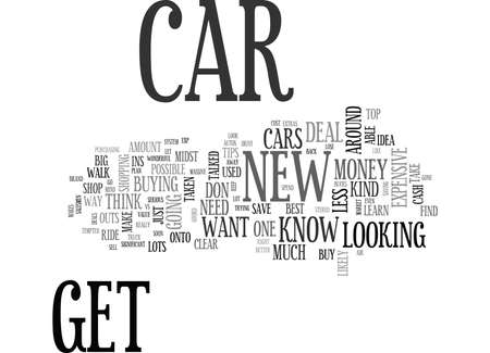 WHAT TO KNOW IF YOU ARE IN THE MARKET FOR A NEW CAR TEXT WORD CLOUD CONCEPT