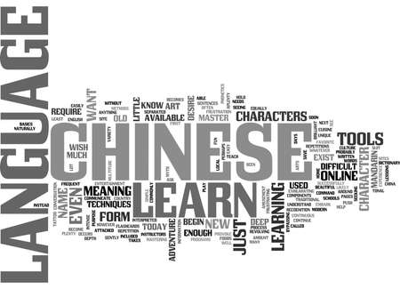 WHAT TO LEARN IN THE CHINESE LANGUAGE TEXT WORD CLOUD CONCEPT