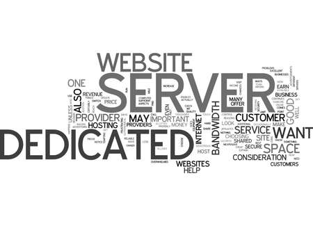 WHAT TO LOOK FOR IN A DEDICATED SERVER TEXT WORD CLOUD CONCEPT