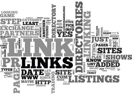 listings: WHO ELSE WANTS A SHOT AT LINKS PARTNERS TEXT WORD CLOUD CONCEPT