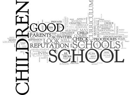 WHAT TO LOOK FOR IN A GOOD SCHOOL TEXT WORD CLOUD CONCEPT