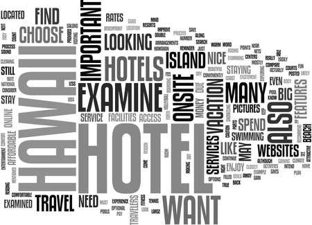 ハワイ ホテル テキスト単語雲概念で捜すべき何