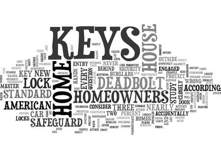 WHO HAS THE KEYS TO YOUR HOME TEXT WORD CLOUD CONCEPT