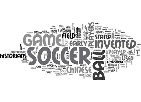 WHO INVENTED SOCCER TEXT WORD CLOUD CONCEPT Illustration