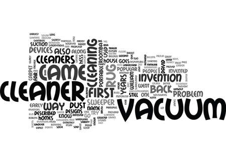 WHO INVENTED THE VACUUM CLEANER TEXT WORD CLOUD CONCEPT