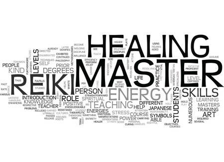 WHO IS A REIKI MASTER TEXT WORD CLOUD CONCEPT