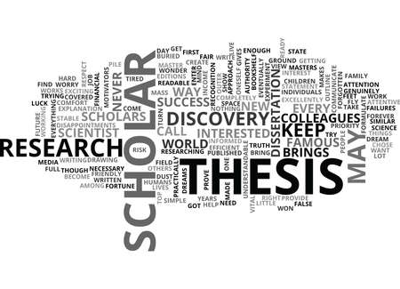 WHO IS A SUCCESSFUL SCIENTIST TEXT WORD CLOUD CONCEPT