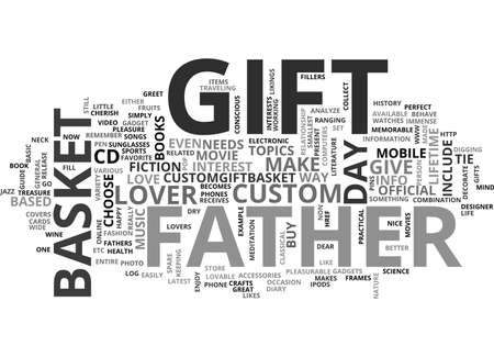 WHAT WILL YOU GIFT YOUR FATHER ON FATHER S DAY TEXT WORD CLOUD CONCEPT Illusztráció