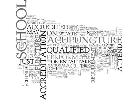 acu: WHO IS QUALIFIED TO PERFORM ACU PUNCTURE TEXT WORD CLOUD CONCEPT Illustration