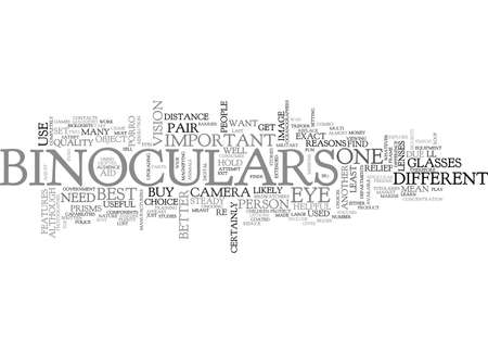 WHAT WOULD YOU USE BINOCULARS FOR TEXT WORD CLOUD CONCEPT