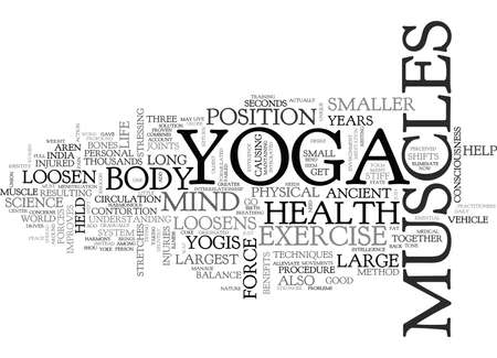 WHAT YOGA EXERCISE DO FOR YOU TEXT WORD CLOUD CONCEPT Imagens - 79579550