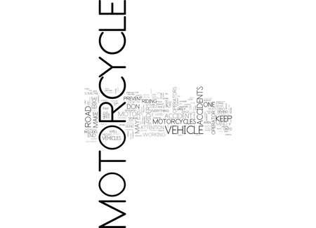 WAT JE KUNT DOEN OM MOTORFIETS-ONGELUKKEN TEKST WORD CLOUD CONCEPT TE VOORKOMEN Stock Illustratie