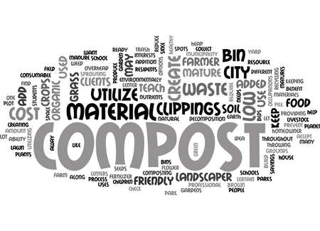 clippings: WHO SHOULD COMPOST TEXT WORD CLOUD CONCEPT Illustration