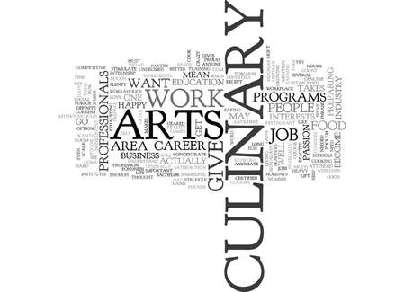 WHO TAKES CULINARY ARTS TEXT WORD CLOUD CONCEPT