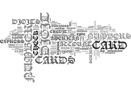 WHAT YOU DIDN T KNOW ABOUT CREDIT CARD NUMBERS TEXT WORD CLOUD CONCEPT Illustration