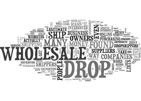 WHOLESALE DROPSHIPPERS SCAMS REVEALED TEXT WORD CLOUD CONCEPT