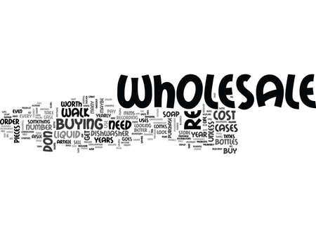 WHOLESALE IS IT WORTH THE COST TEXT WORD CLOUD CONCEPT Ilustração
